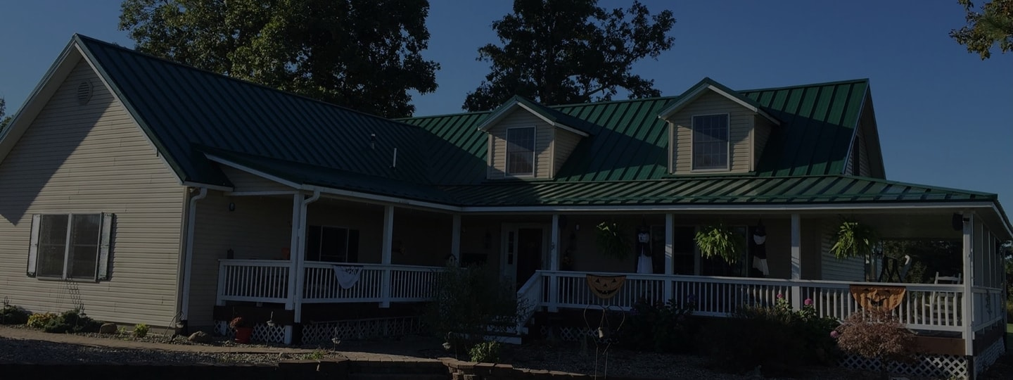Custom Made Metal Roofing On Job-Site